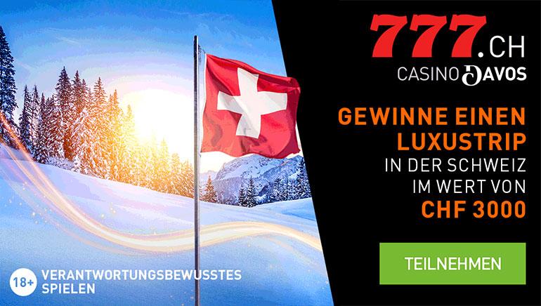 Casino777.ch verschenkt Luxus-Urlaub in der Schweiz