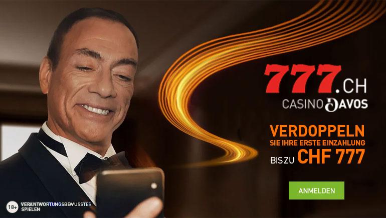 100% Willkommensbonus bei Casino777.ch