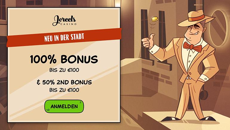 Holen Sie sich Ihr Revier mit einem 200€ Willkommensbonus im Joreels Casino