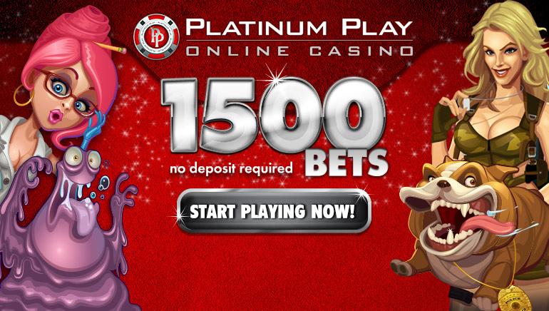 Platinum Play Casino bietet gleich vom ersten Schritt  zwei tolle Boni an