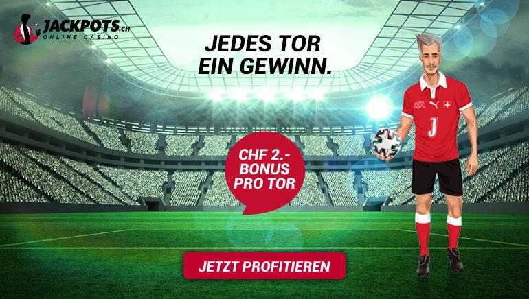 Tolle Aktion zur EM 2020 bei Jackpots.ch in Verbindung mit der Schweizer Nationalmannschaft - check it out