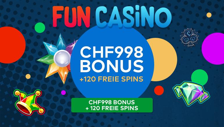 Ein Regenbogen von Spiel & Spaß mit 120 Freispielen im Fun Casino