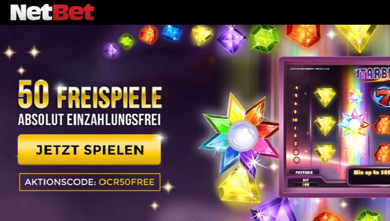 50 Freispiele im NetBet Casino ohne Einzahlung