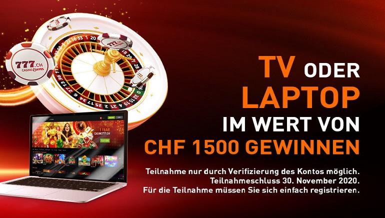 Casino777.ch bietet neuen Spielern ausgefallene Preise