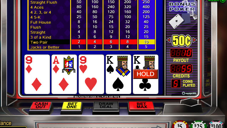 Kostenloses Online Video Poker